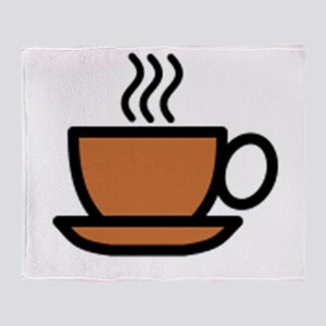 Hot Cup of Coffee Throw Blanket