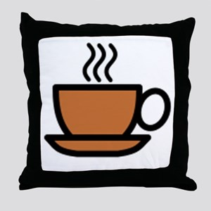 Hot Cup of Coffee Throw Pillow