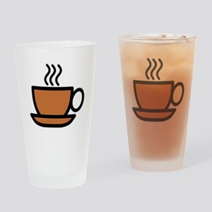 Hot Cup of Coffee Drinking Glass