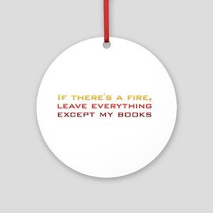 Book Lover's Fire Ornament (Round)