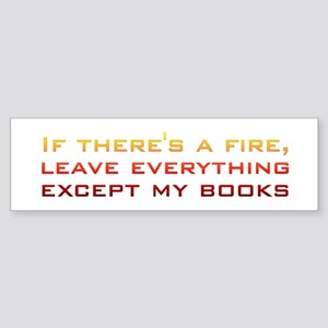 Book Lover's Fire Bumper Sticker