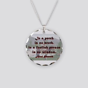 In A Perch Is No Broth - Altai Necklace Circle Cha