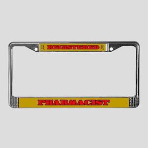 Registered Pharmacist License Plate Frame