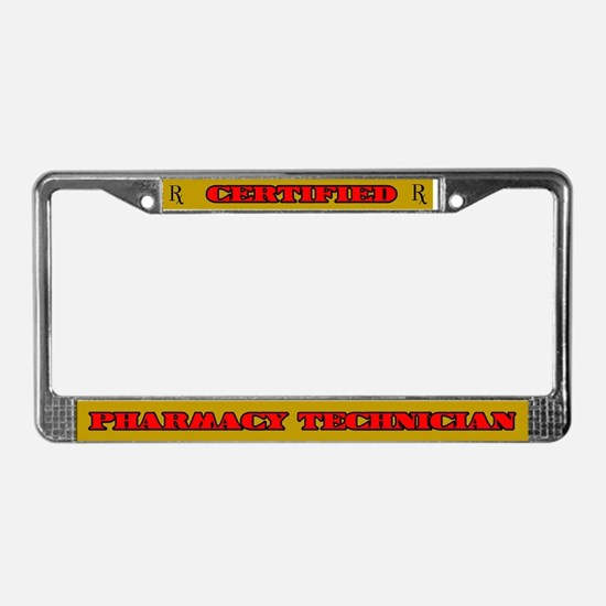 Certified Pharmacy Technician License Plate Frame