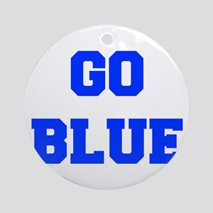 go-blue-fresh-blue Ornament (Round)
