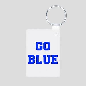 go-blue-fresh-blue Keychains