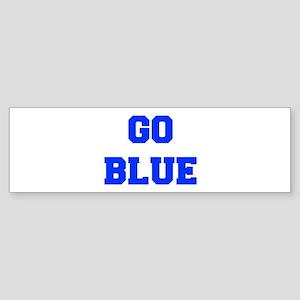 go-blue-fresh-blue Bumper Sticker