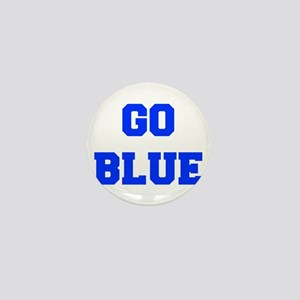 go-blue-fresh-blue Mini Button