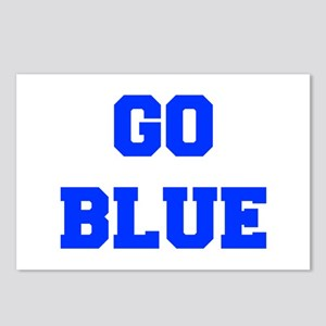 go-blue-fresh-blue Postcards (Package of 8)