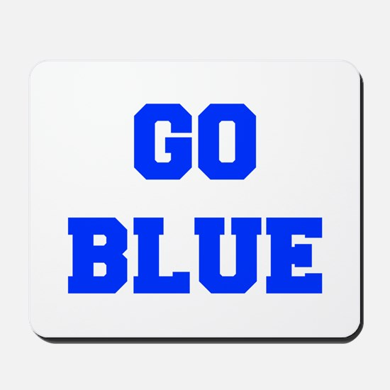 go-blue-fresh-blue Mousepad