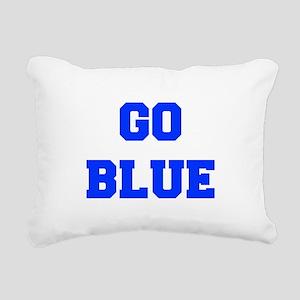 go-blue-fresh-blue Rectangular Canvas Pillow