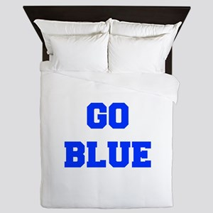 go-blue-fresh-blue Queen Duvet