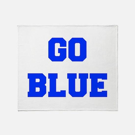 go-blue-fresh-blue Throw Blanket