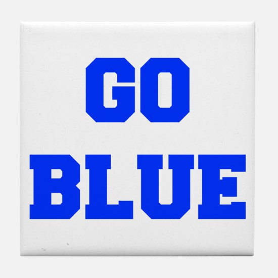 go-blue-fresh-blue Tile Coaster