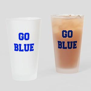 go-blue-fresh-blue Drinking Glass