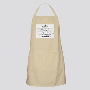 How Do You Roll BBQ Apron
