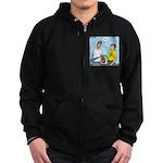 Earthday Weeding Zip Hoodie (dark)