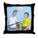 Earthday Weeding Throw Pillow