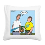 Earthday Weeding Square Canvas Pillow