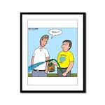 Earthday Weeding Framed Panel Print