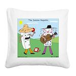 Domino Republic Square Canvas Pillow