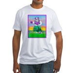 Hula Bulldog Fitted T-Shirt