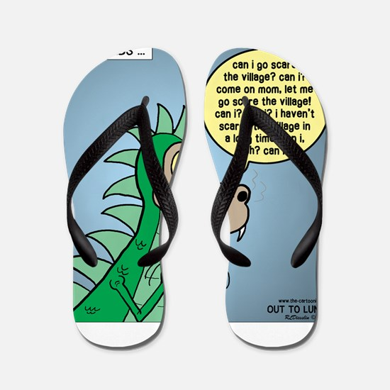Dragon Kid Flip Flops