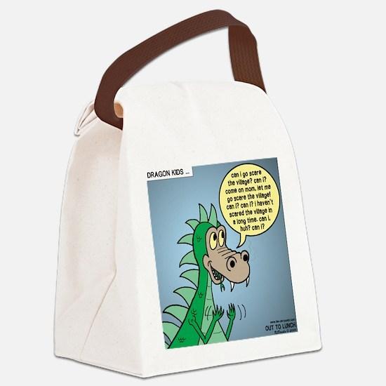 Dragon Kid Canvas Lunch Bag