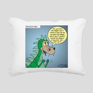 Dragon Kid Rectangular Canvas Pillow