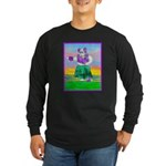 Hula Bulldog Long Sleeve Dark T-Shirt
