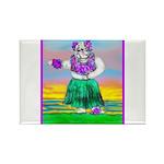 Hula Bulldog Rectangle Magnet (10 pack)
