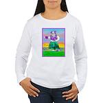 Hula Bulldog Women's Long Sleeve T-Shirt