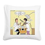 Dentist Suction Square Canvas Pillow