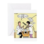 Dentist Suction Greeting Card