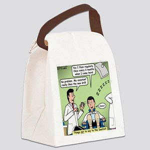 Dentists and Flossing Canvas Lunch Bag