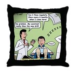 Dentists and Flossing Throw Pillow