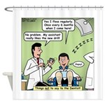 Dentists and Flossing Shower Curtain