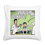 Dentists and Flossing Square Canvas Pillow