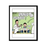 Dentists and Flossing Framed Panel Print