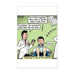 Dentists and Flossing Mini Poster Print