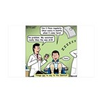 Dentists and Flossing 35x21 Wall Decal