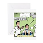 Dentists and Flossing Greeting Cards (Pk of 10)