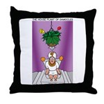 House Plant of Damocles Throw Pillow