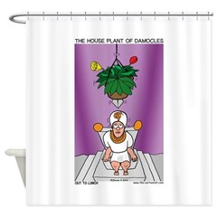 House Plant of Damocles Shower Curtain