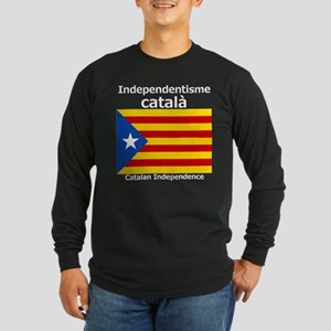 Catalan Independence Long Sleeve Dark T-Shirt