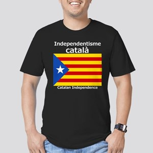 Catalan Independence Men's Fitted T-Shirt (dark)