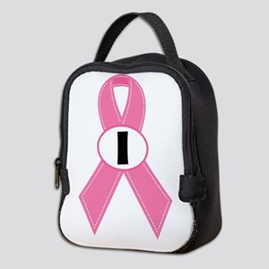 Breast Cancer 1 Year Ribbon Neoprene Lunch Bag