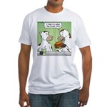 Cow Fast Food Fitted T-Shirt