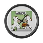 Cow Fast Food Large Wall Clock