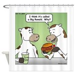Cow Fast Food Shower Curtain